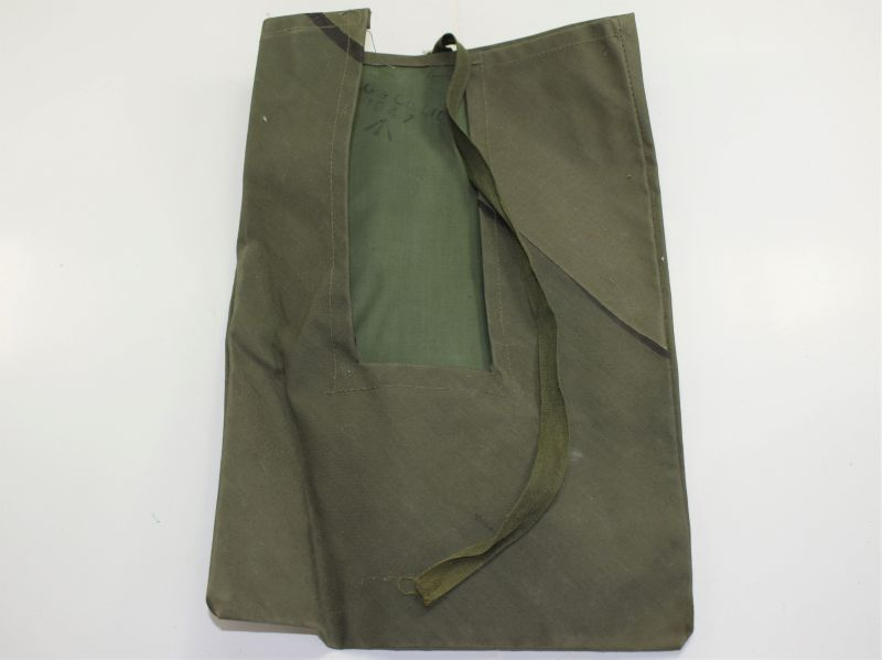 6) Original WW2 – 1950s Tropical JG Waterproof Pouch For Anti-Mosquito Net Hood & Gloves