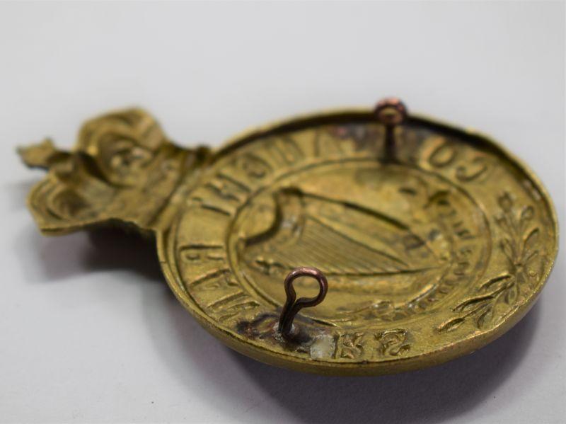 82) Original Large Victorian Connaught Rangers Cap Badge