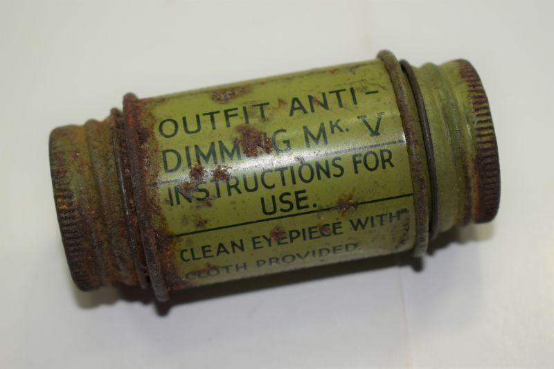 12) Early WW2 British Respirator Outfit Anti-Dimming MKV 1937.