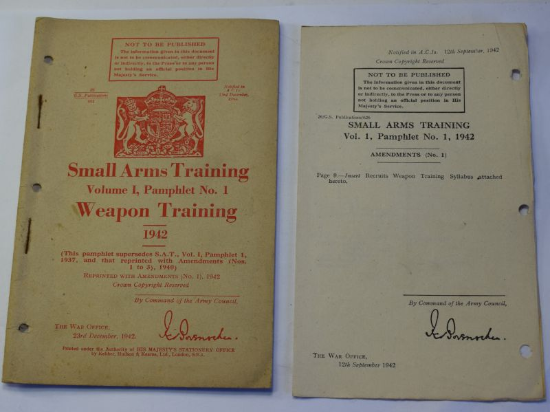 86) Original WW2 Small Arms Training Vol I Pamphlet 1, .Weapon Training 1942