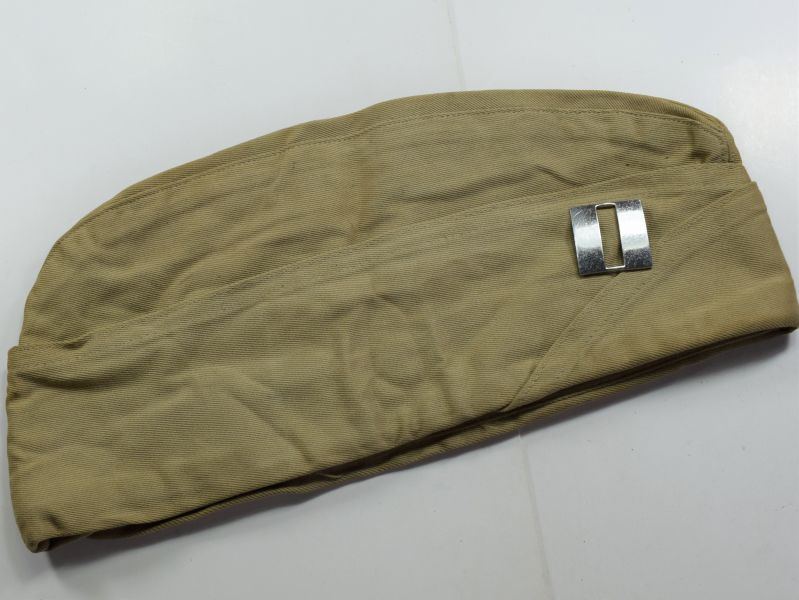 16) Original WW2-1950s US Army Captains Khaki Side Cap