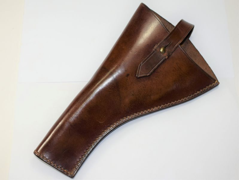 100) Excellent Original WW1 British Officers Leather Pistol Holster 1903 Pat?