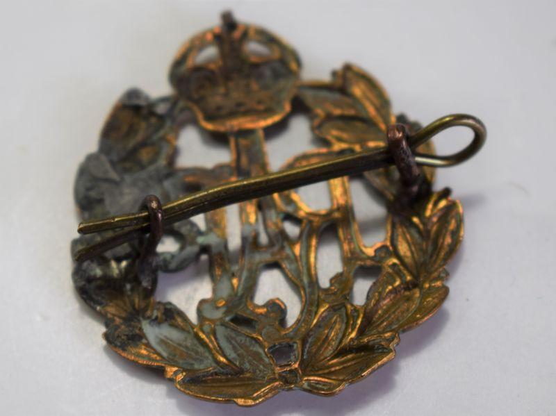 50) Original WW2 RAF Brass Cap Badge