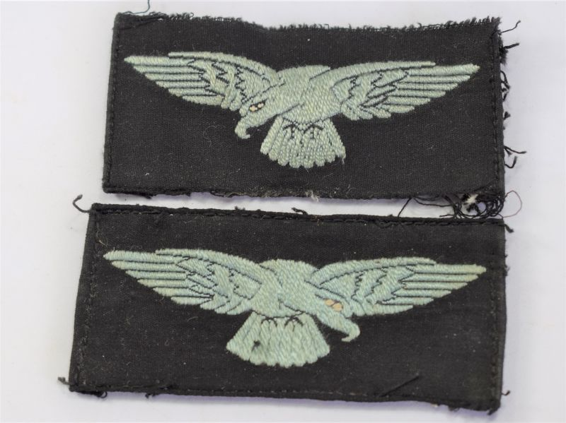 129) Original WW2 RAF Embroidered Albatross Sleeve Badge Pair