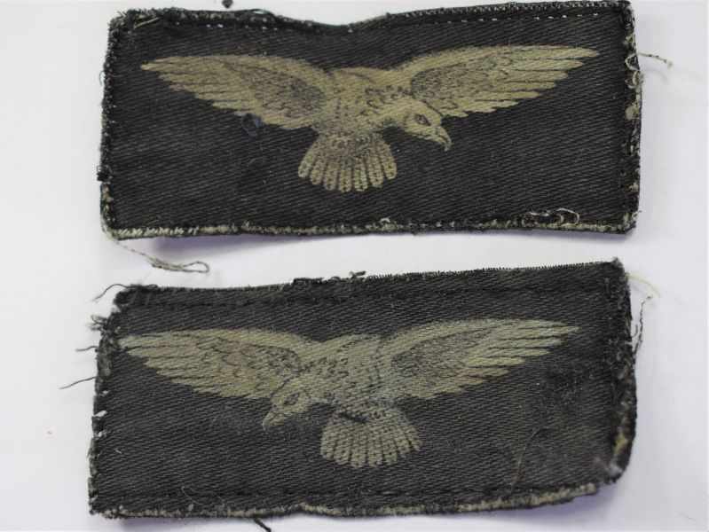 130) Original WW2 RAF Printed Albatross Sleeve Badge Pair