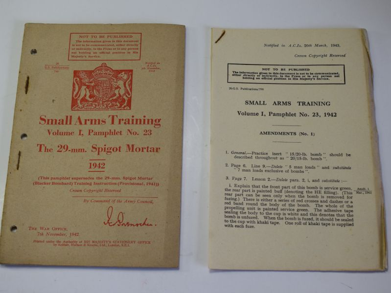 69) Small Arms Training Pamphlet Vol I Pamphlet No 23, The 29-mm Spigot Mortar 1942