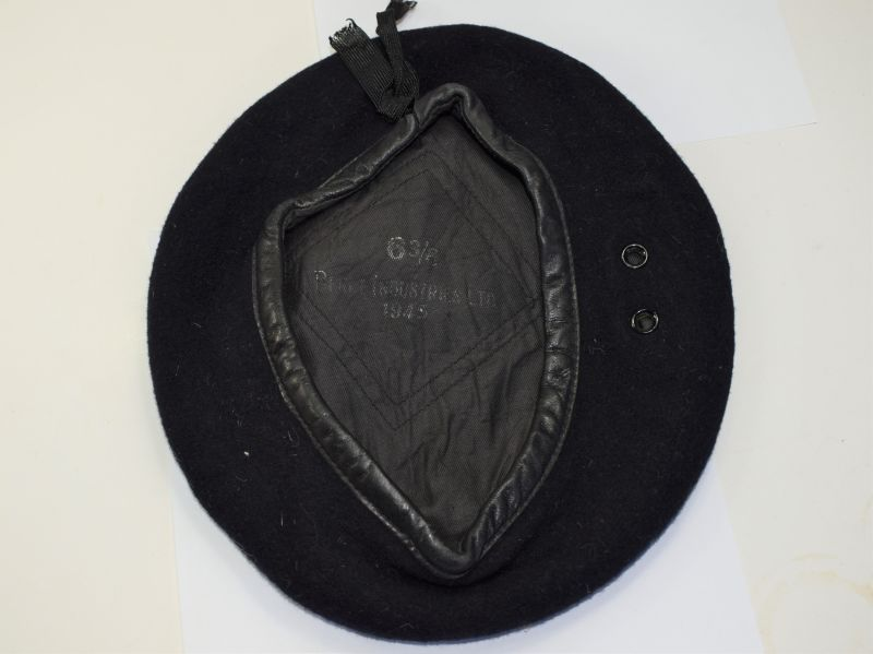 149) Original WW2 Royal Navy & RM Sea Service Issue Blue Beret 1945