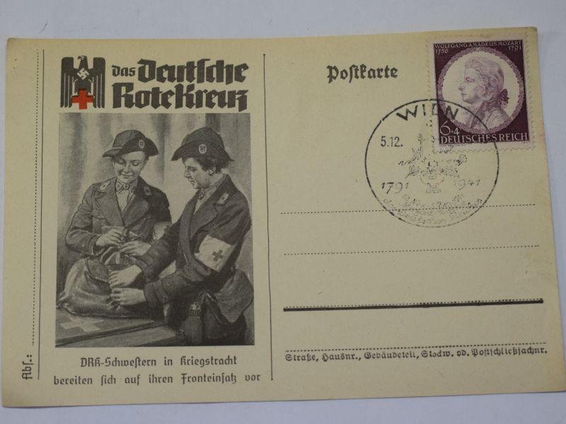 154) WW2 German Red Cross 150-year Celebration Postcard