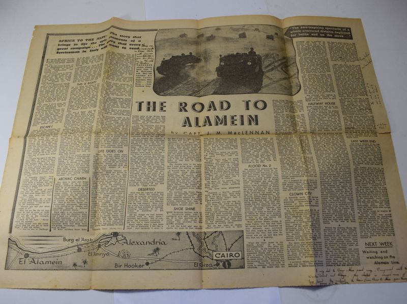 151) Original Centre Page of The Crusader Forces News Paper 1945