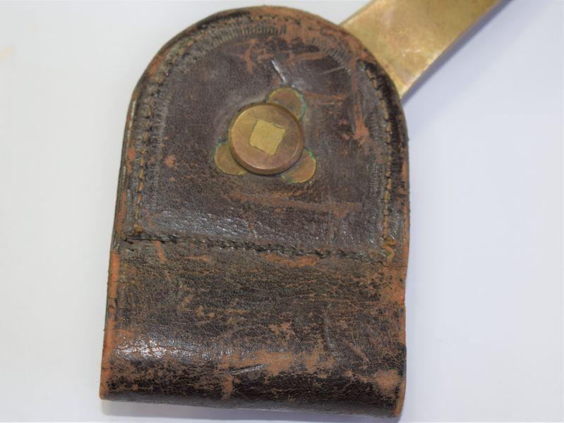 163) Original 1873 Springfield Trapdoor Socket Bayonet Belt Frog