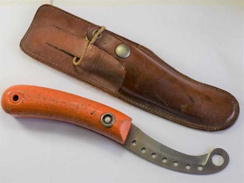 164) Excellent Original WW2 RAF Floating Dinghy Knife & Scabbard