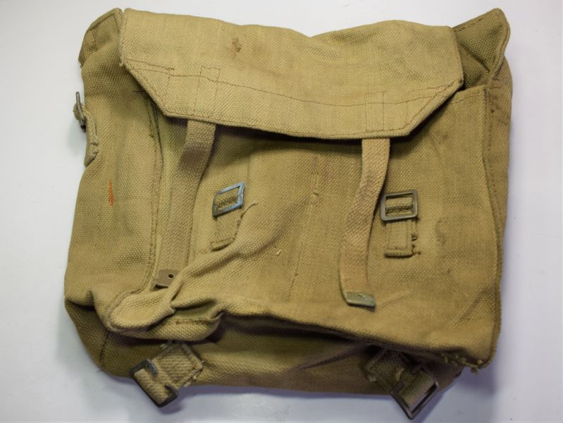 31) Excellent Original WW2 British Made Webbing Small Pack Bagcraft Ltd 1941