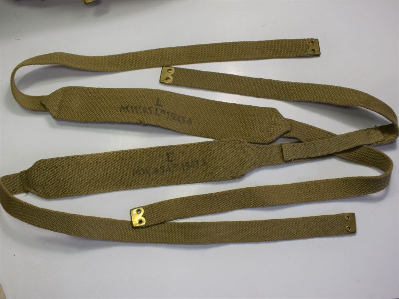 Unissued WW2 British 37 Pat Web Shoulder Braces Size Long MW&S Ltd 1943