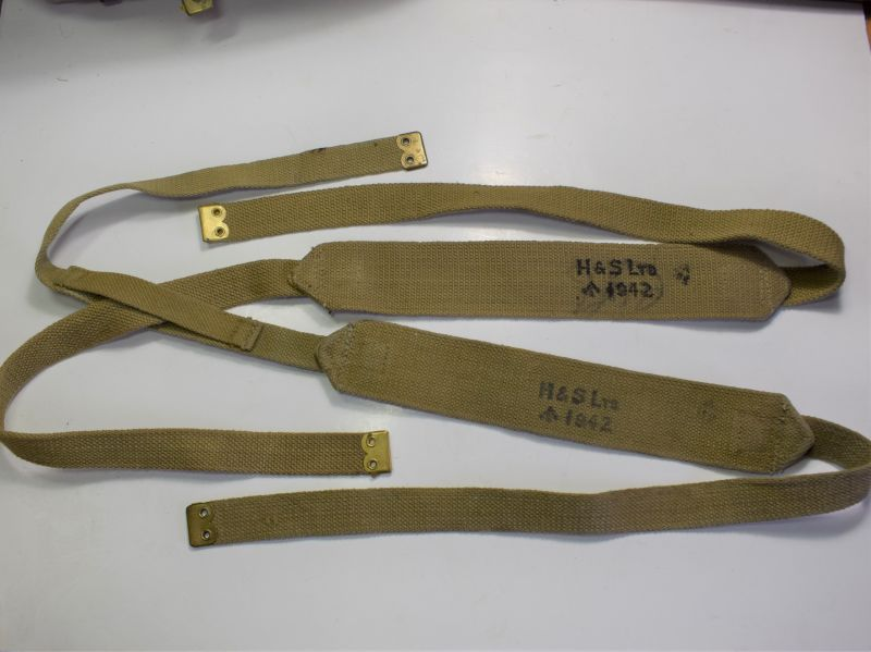 Unissued WW2 British 37 Pat Web Shoulder Braces Size Long H&S Ltd 1942