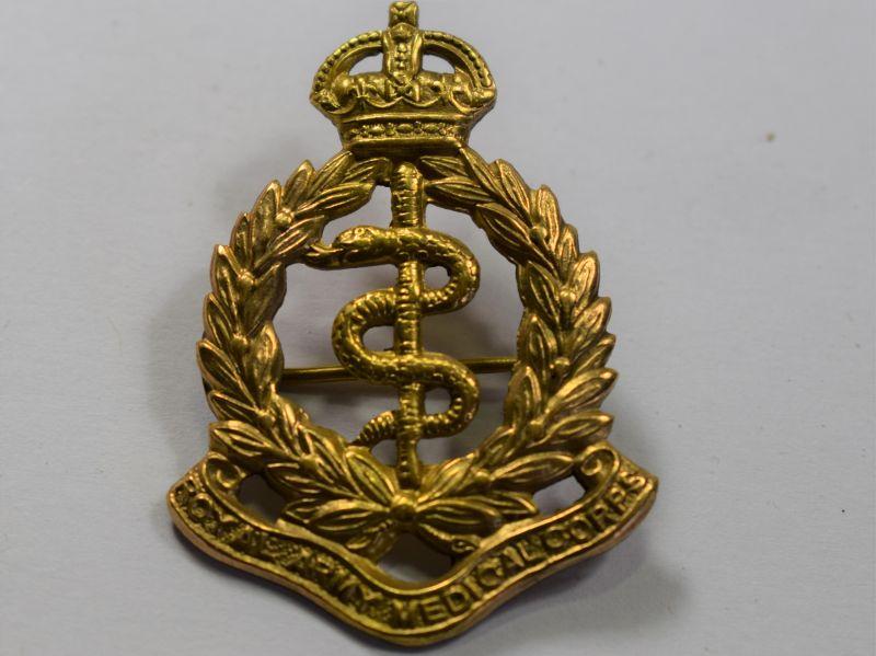 48) WW1 WW2 RAMC Cap Badge Converted to Sweetheart Brooch