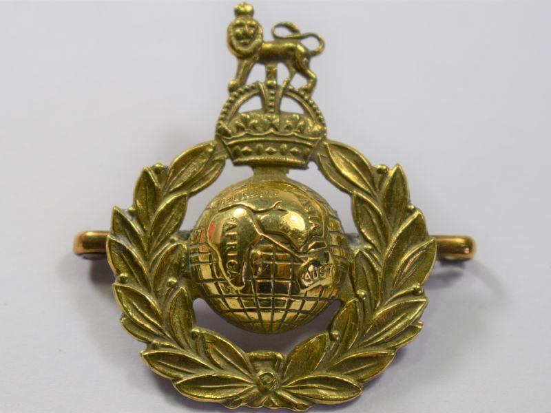 49) WW1 WW2 Royal Marines Cap Badge Converted to Sweetheart Brooch
