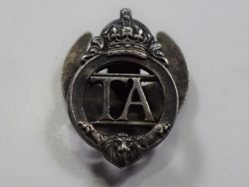 67) Original Pre WW2-Territorial Army Lapel Badge