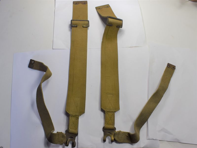 84) Matching WW2 British Army Economy Pattern L-Straps A.C. 1942