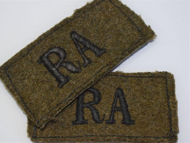 109) Good Matching WW2 Royal Artillery Slip On epaulette Slides - World War  Wonders