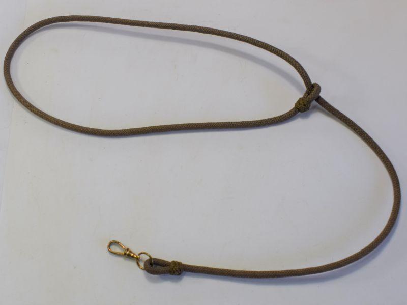 80) Original WW1 WW2 British Officers Pocket Watch & Whistle Lanyard