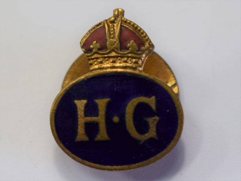 116) Nice WW2 British Home Guard Enamelled Lapel Badge