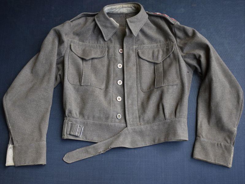 5) Original WW2 New Zealand Made Battledress Blouse 1943