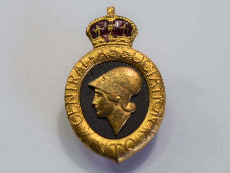 119) Excellent Original WW1 Volunteer Training Corps Lapel Badge
