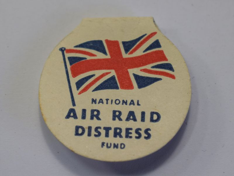 124) Original WW2 National Air Raid Distress Fund Paper Badge