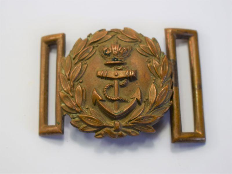 151) Original Victorian Royal Navy Officers Brass Belt Buckle