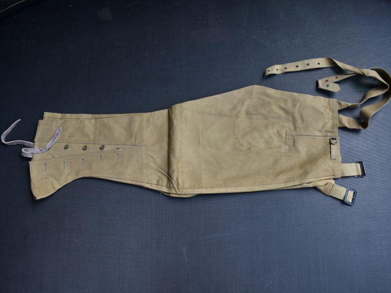 8) Original WW2 British Army & ATS Issue DR Waterproof Leggings Size 1, 1941