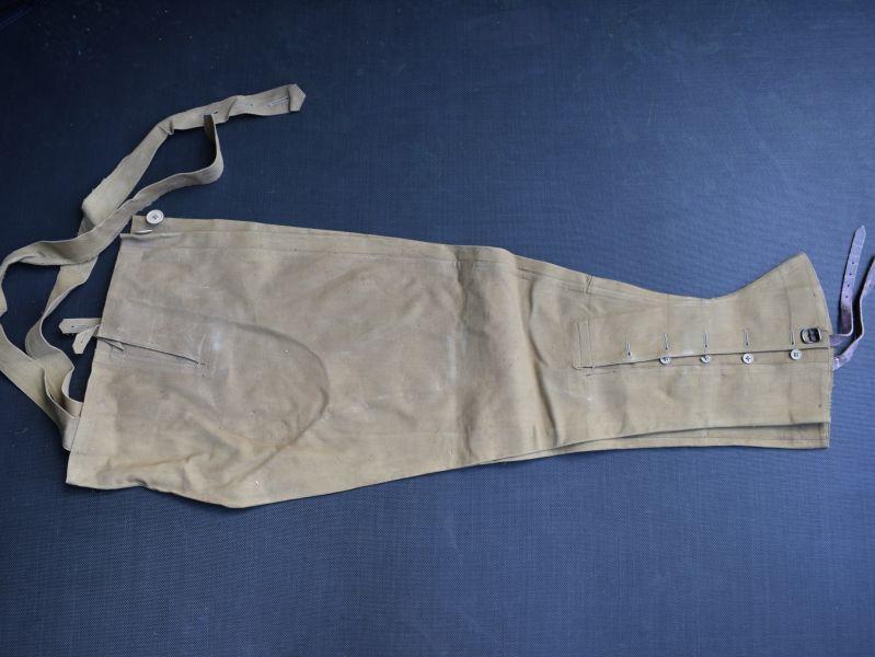 9) Original WW2 British Army Issue DR Waterproof Leggings Size 5, 1943