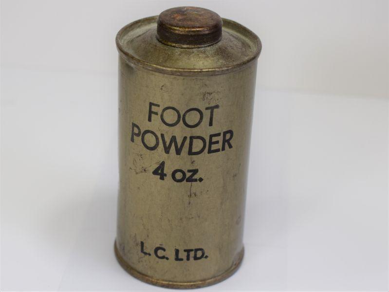 12) Original Wartime British Army Issue 4oz Round Tin of Foot Powder