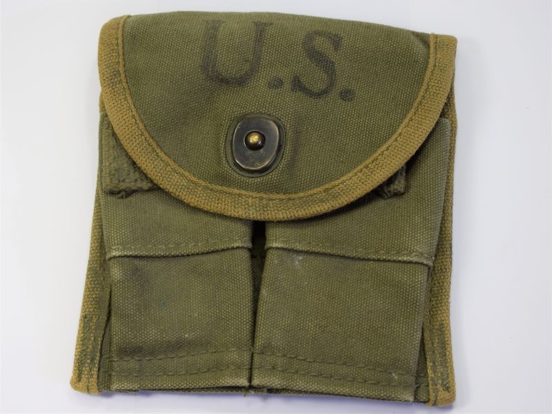 15) Original WW2 US Army Issue M1 Carbine Mag Pouch