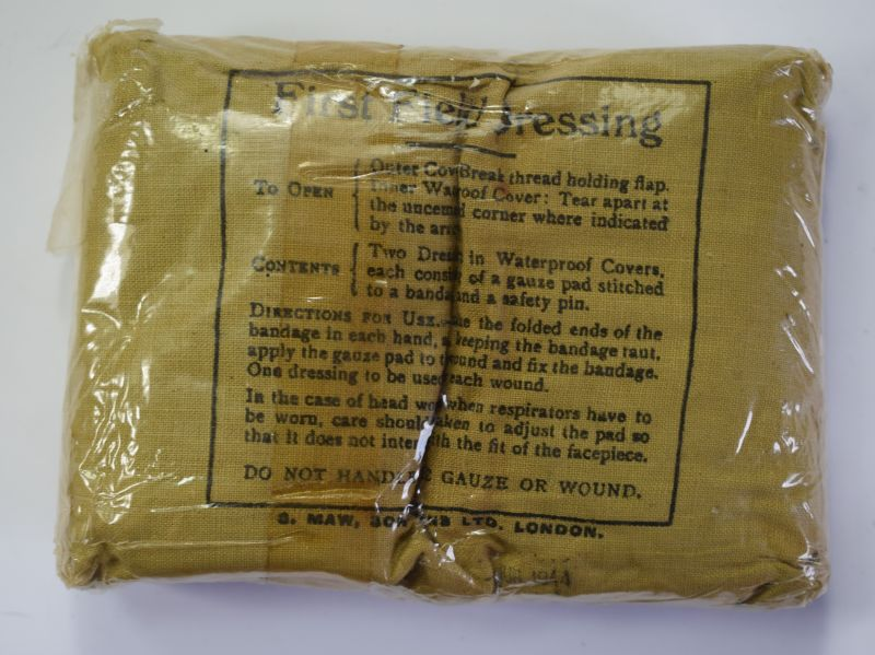 22) Mint Unissued British Army First Field Dressing Dated 1944