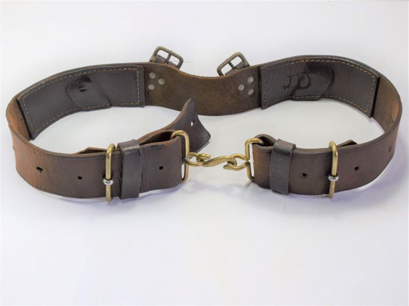 GD5) Original WW1 British Army 1914 Pattern Leather Waist Belt