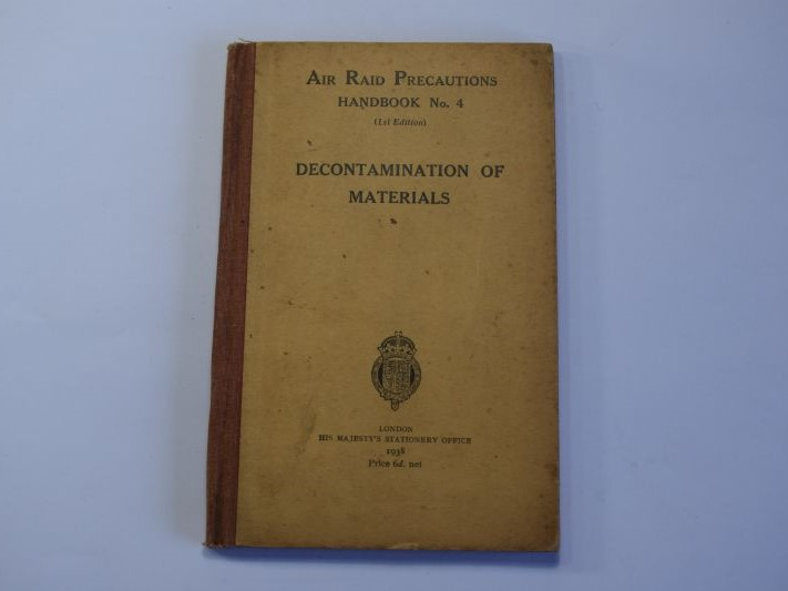 144) Original ARP Handbook No4 Decontamination of Material 1938