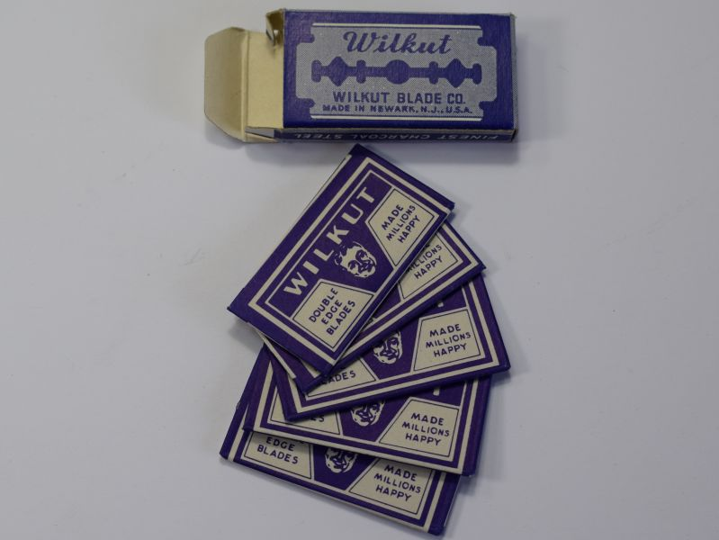 28) Original Pack of 5 WW2 US Military Issue Wilkut Razor Blades