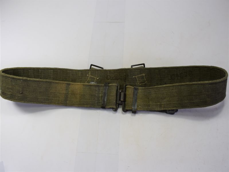 GD6) Excellent Original WW2 Indian Made Web Belt in Jungle Green