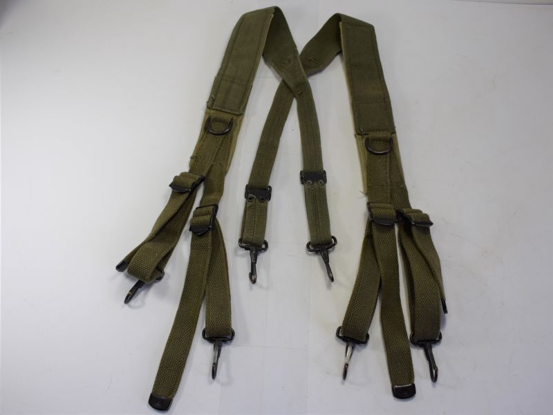 173) Good Clean Original US Army M-1943 Issue Padded Suspender Braces