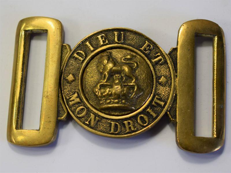 39) Nice Original British Army Victorian General Service Belt Buckle