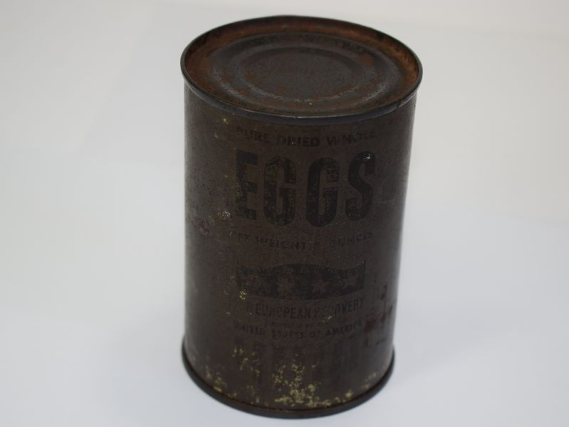 44) Early Post War Marshal Aid Tin of Pure Dried Whole Eggs
