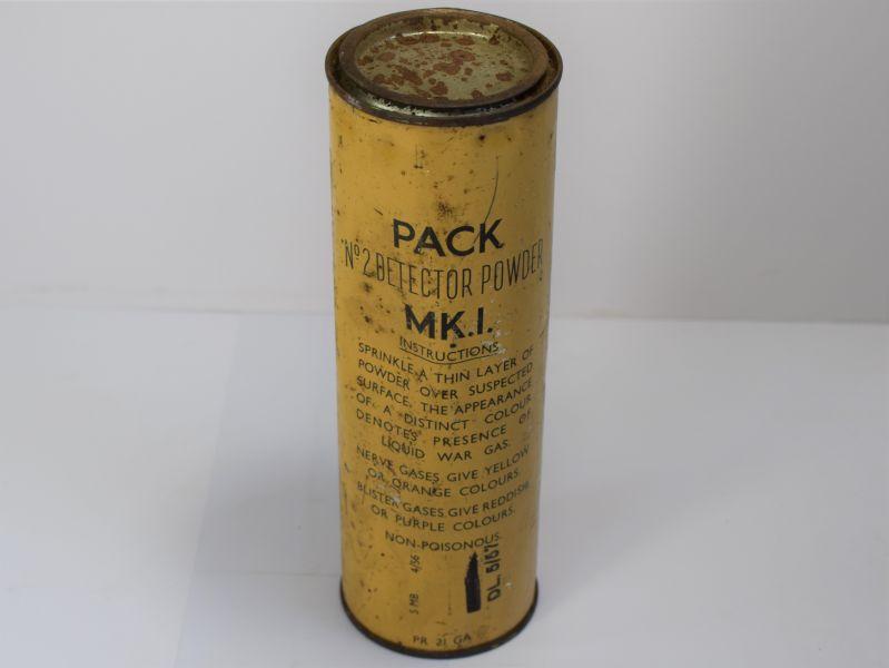 61) Full Wartime Pattern Tin Pack No2 Detector Powder MKI 1956