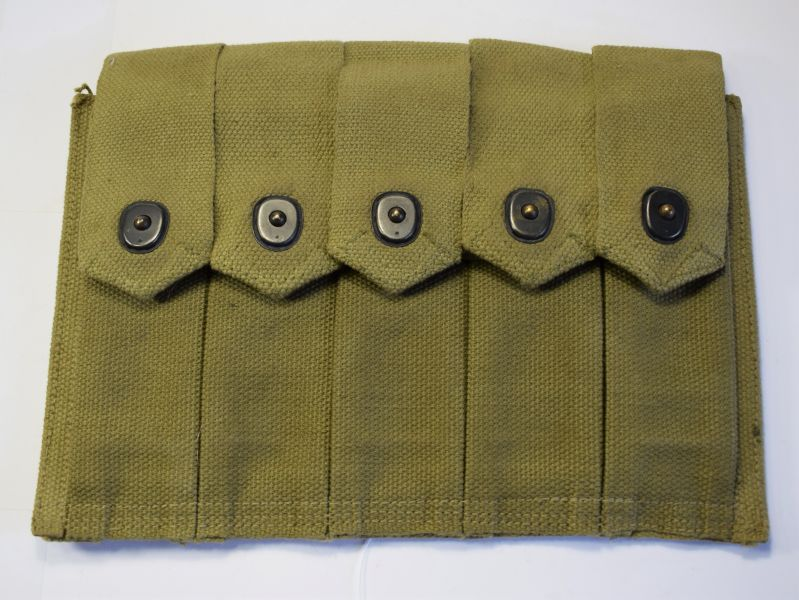 63) Excellent Original WW2 US Army Thompson SMG 5 Pocket Mag Pouch