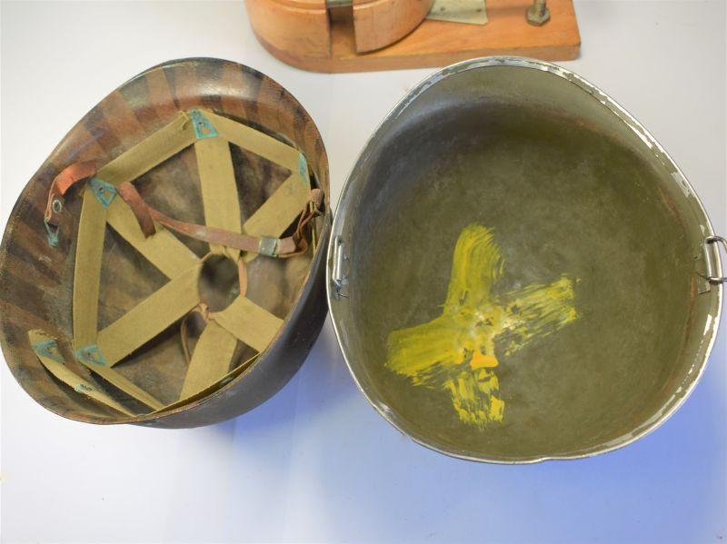 67) Original WW2 US Army Steel Helmet & Firestone Liner