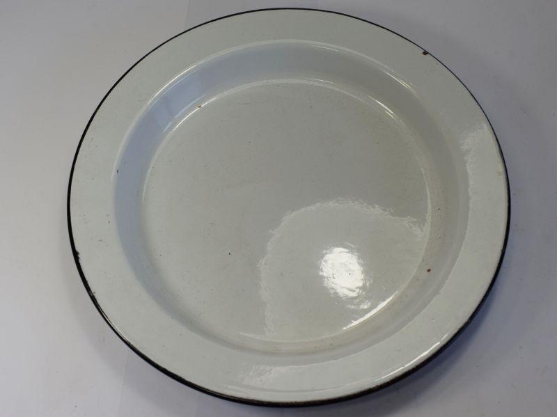 Original WW1 Pattern British Army Blue & White Enamel Dinner Plate Dated 1951