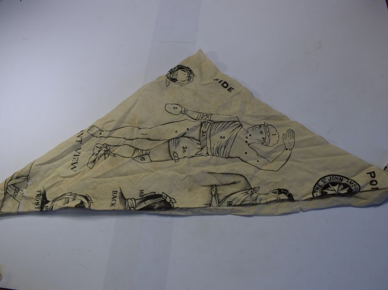 90) WW1 Era The St John Ambulance Association Triangular Bandage