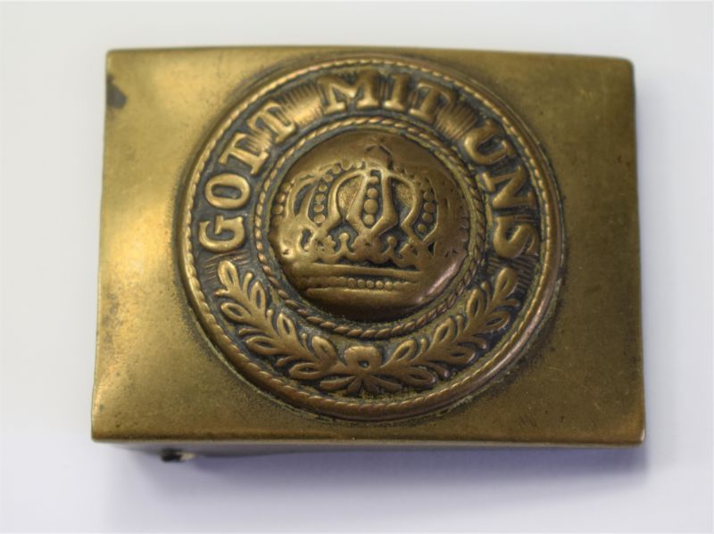 47) Nice Original WW1 German Army Brass Belt Buckle