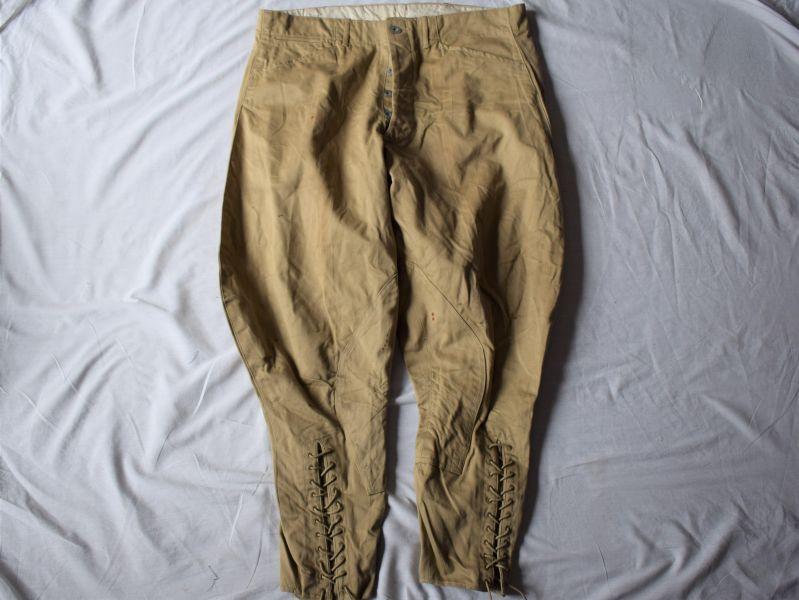5) Original 1930s-WW2 US Army Khaki Cotton Breeches