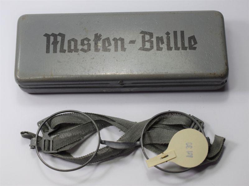 11) Mint Original Unissued WW2 German Military Gas Mask Glasses