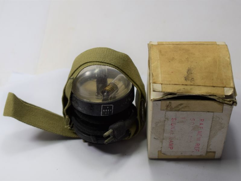 15) WW2 USAAF & RAF Issue Dinghy Signalling Lamp in RAF issue Box